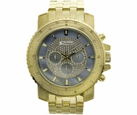 Blue Dial Gold .25 Carat Bling Bling Diamond Jojino Watch