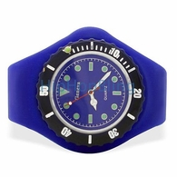 Blue Jelly Watch with Rotating Bezel