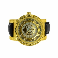 Bold Super Techno Gold .10cttw Diamond Watch