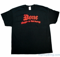 Bone Thugs n Harmony Red Logo Black T Shirt