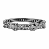 Boxy Silver Plated Bling Bangle