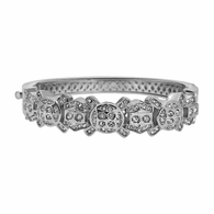 Bubbly Bling Silver Plated Bangle