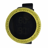 Canary Custom Bezel Gold Digital Watch