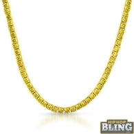 Canary Yellow 4MM CZ Gold Stainless Steel Tennis Chain