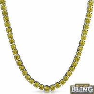 Canary Yellow 6MM CZ Stainless Steel Tennis Chain