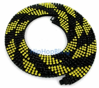 Candy Cane Canary & Black 4 Row Bling Bling Chain - Exclusive