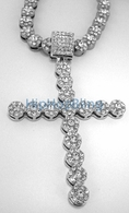 Cluster Bling Bling Cross Iced Out Chain Combo