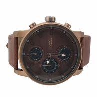 Copper Style Brown Leather Fashion Watch