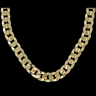 Cuban Concave 10mm 30 Inch Gold Plated Hip Hop Chain Necklace