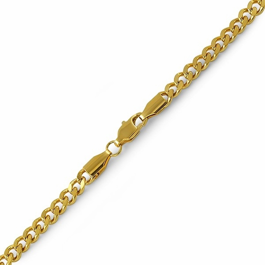 Cuban IP Gold Stainless Steel Bracelet 4MM