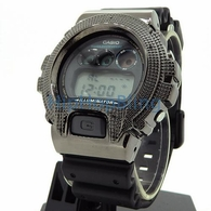 Custom Black Diamond Casio G Shock Watch .10cttw
