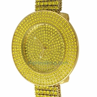 Custom Lemonade Bling Bling Watch & 6 Row Band