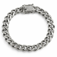 CZ Clasp Stainless Steel 10MM Cuban Bracelet