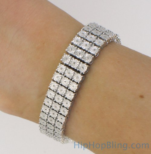 Diamond Bracelets Sterling Silver Jewelry