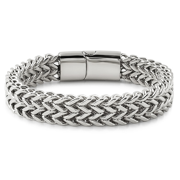 Stainless Steel Bracelet Charms: Double Franco Stainless Steel Bracelet