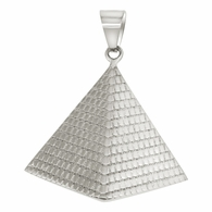 Egyptian Pyramid Stainless Steel Pendant