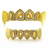 Fang Grillz Open Tooth Gold Top Teeth