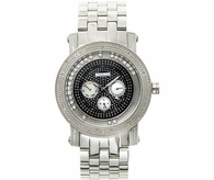 Floating Black Dial JoJino Diamond Watch .25cttw