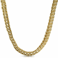 Franco CZ Gold Bling Bling Chain