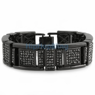 Fresh Black Bling Bling Bracelet
