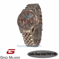 Gino Milano Jubilee Rose Watch Black Dial