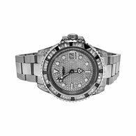 GMT CZ Custom Mens Bling Bling Watch