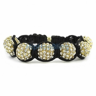 Gold 12mm 7 Disco Ball Bling Bling Bracelets