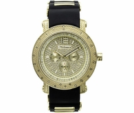 Gold .25cttw Diamond Jojino Watch Black Jelly Band