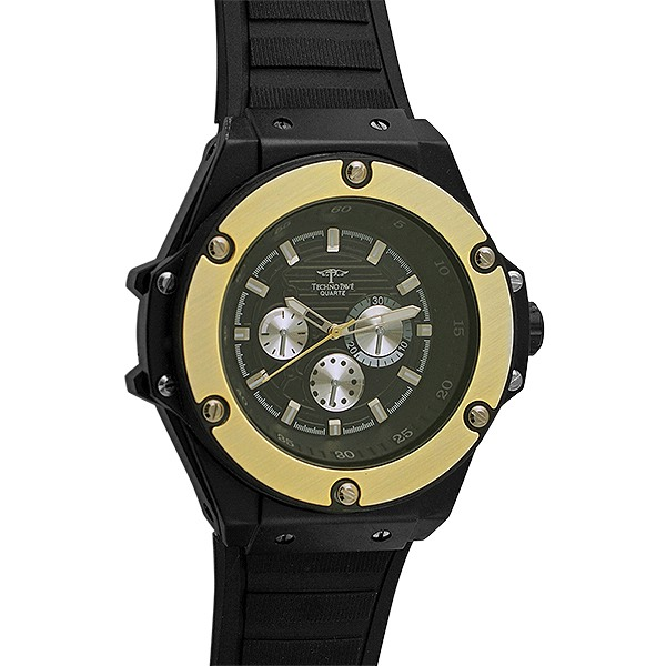 Gold and black fashion hip hop watch black iced out for Rapper watches