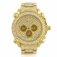 Gold Chrono Bling Bling Custom Hip Hop Watch