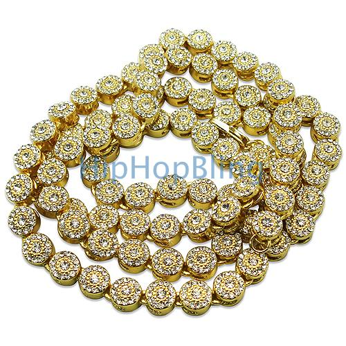 Gold Cluster Mega Bling Bling Chain - 1200 Faux Diamonds