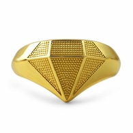 Gold Diamond .925 Sterling Silver Custom Ring