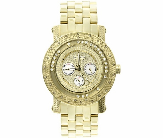 Gold Floating Dial .25cttw Diamond JoJino Watch