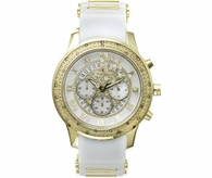 Gold JoJino .25cttw Diamond Watch White Sport Band