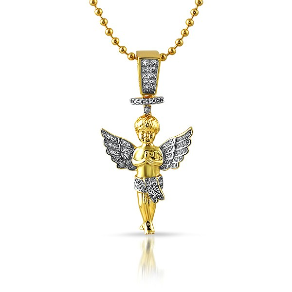 Gold halo angel micro hip hop pendant angel pendants mbp920g gold halo angel micro hip hop pendant aloadofball Image collections