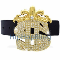 Gold Hip Hop Belt Buckles