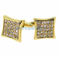 Gold Kite Mens Bling Bling Cufflinks