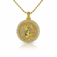 Gold Liberty Round Medallion Bling Bling