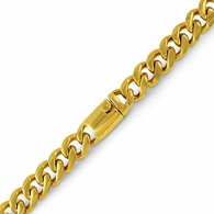 Gold Miami Cuban Bracelet 316L 13MM Box Clasp