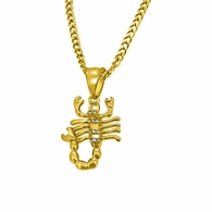 Gold Micro Scorpion Hip Hop Pendant