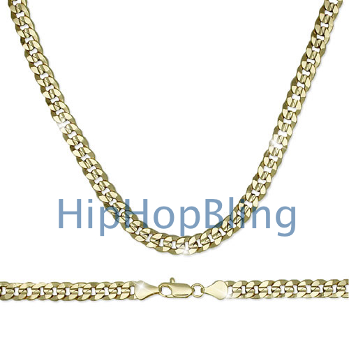 Gold Plated Cuban Chain 8mm Wide 20 Inch