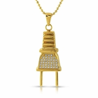 Gold Plug Stainless Steel Pendant Chain
