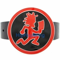 Hatchet Man Circle Red & Black Enamel ICP Insane Clown Posse Belt Buckle