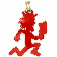 Hatchet Man Red Enamel ICP Pendant & Free Chain in Gold Officially Licensed