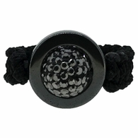 Hematite Disco Ball Bling Bling Ring