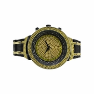 Hip Hop Bling Bling Watch Canary Black Bracelet Set