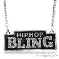 Hip Hop Bling Logo Pendant & Chain