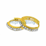 Huggie Gold Bling Bling Earrings