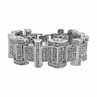 Ice Bar Rhodium Bling Bling Bracelet