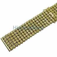Iced Out Watch Band Custom Lemonade CZ 6 Rows